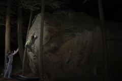 Rock Climbing Photo: Mike Thompson on Terrorist. At night!