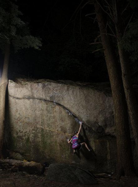 Rock Climbing Photo: Hannah Marshall climbing Ride the Lightning late a...