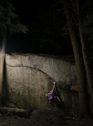 Rock Climbing Photo: Hannah Marshall climbing Ride the Lightning late a...