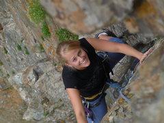 Rock Climbing Photo: Cute Krissy 1