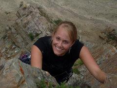 Rock Climbing Photo: Cute Krissy 2