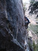 Rock Climbing Photo: Finding shady relief on a hot summer afternoon.  (...