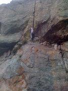 Rock Climbing Photo: Kat A thrutching and suffering!
