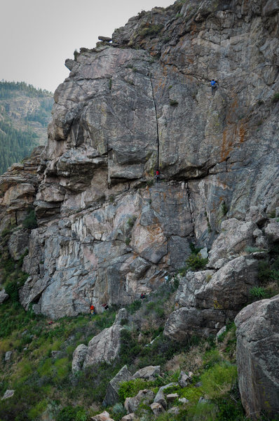 Rock Climbing Photo: Joshua on Crack a Beer, Darren on a new route.
