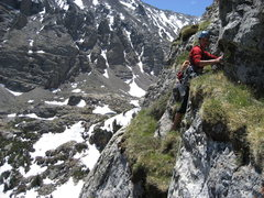 Rock Climbing Photo: RMNP with Jordon Griffler.  Cathedral Wall (Kor / ...