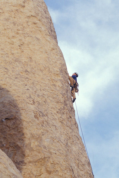 Rock Climbing Photo: Matthew Fienup on Loose Lady, Joshua Tree