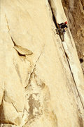 Rock Climbing Photo: Seth Lighthouse on the Flake, Joshua Tree National...