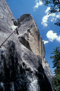 Rock Climbing Photo: Matt Grieger nears the top of Sanitarium, on the B...