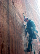 Rock Climbing Photo: Sam Lightner starting up the seam on the first pit...