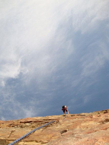 Rock Climbing Photo: Red Slab, Blue Sky, Rock Canyon