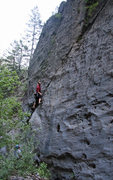Rock Climbing Photo: Kip Henrie starting up Beamer's Claw.