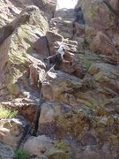 Rock Climbing Photo: Cruising the easier right variation...