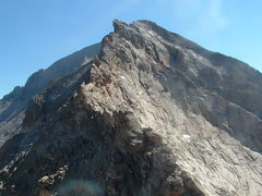 Rock Climbing Photo: The crux: Pagoda's West Ridge.