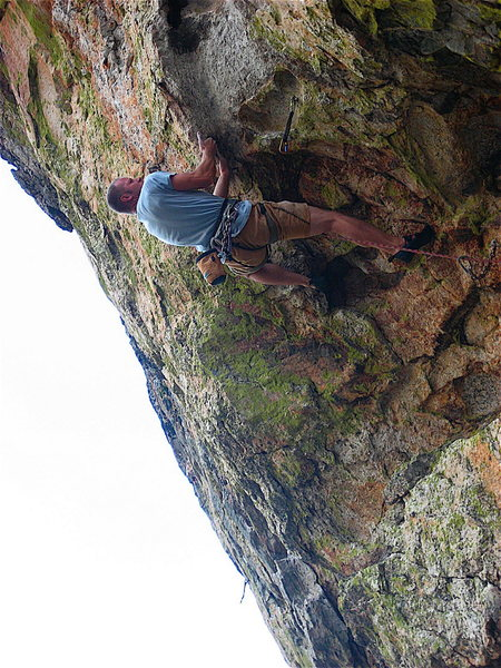 Rock Climbing Photo: Vince working out the low crux in '08