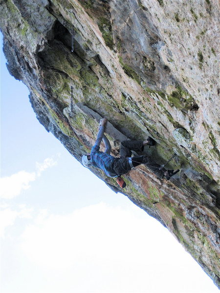 Rock Climbing Photo: Jesse Schultz just below the roof where Coup climb...