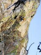 Rock Climbing Photo: EFR taking another run.
