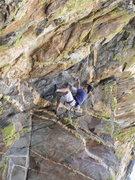 Rock Climbing Photo: Peter Piek just starting the business of Orifice P...