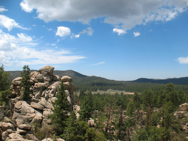 Looking into Holcomb Valley from The Pinnacles, Big Bear Area