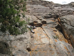 Rock Climbing Photo: Agent Orange, near by the Pharos