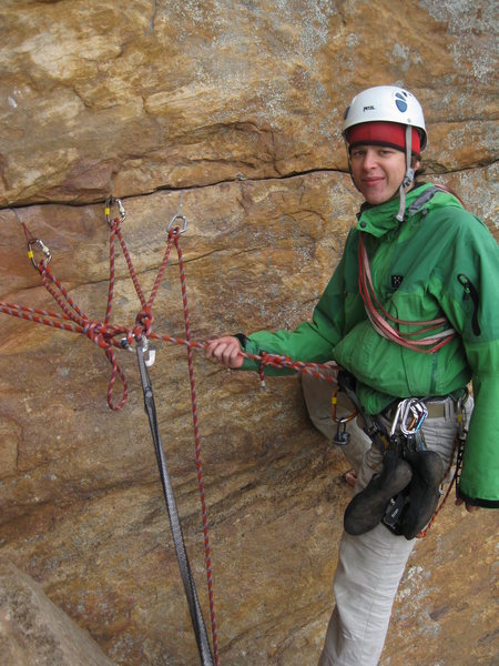 Rock Climbing Photo: happy as hell after leading P3 on the Watchtower C...