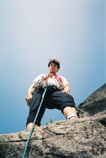 Rock Climbing Photo: Start of second pitch of Beak Buttress