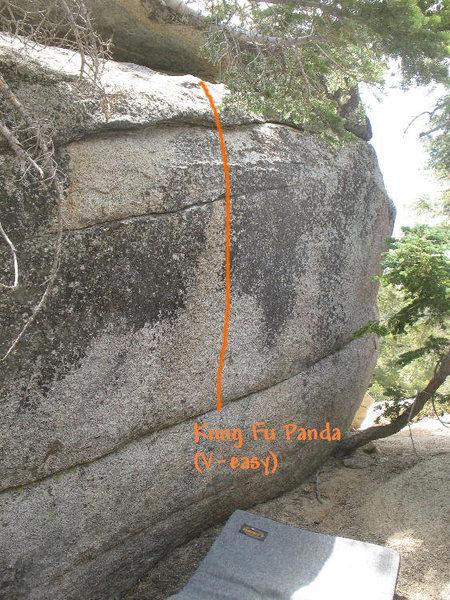 Rock Climbing Photo: Kung Fu Panda (V-easy), Tramway
