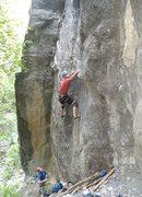 Rock Climbing Photo: Gemini at Tanks 11c with Perin belaying