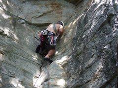 Rock Climbing Photo: Matt Matera starting Boston Tree Party
