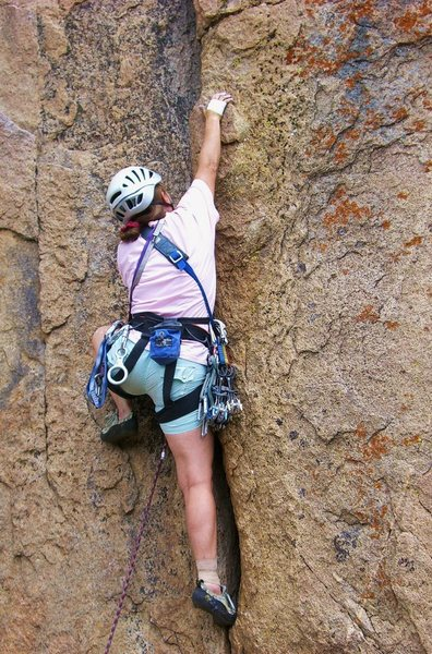 Rock Climbing Photo: Barbara Fredette at the start of WFS.