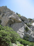 Rock Climbing Photo: Gene near the top.