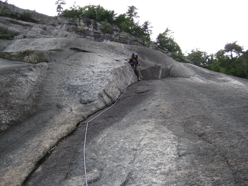 Rock Climbing Photo: Chris on pitch 3 or 4 of beginners route...The rig...
