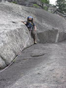 Rock Climbing Photo: chris on the right facing arch