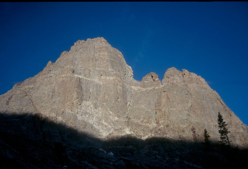 This is the East Face of the East Pinnacle of the Hayden Spires.