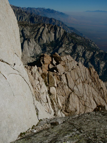 Looking north up the eastern edge of the Sierras and the Owens River Valley from the North Ridge of Lone Pine Peak.