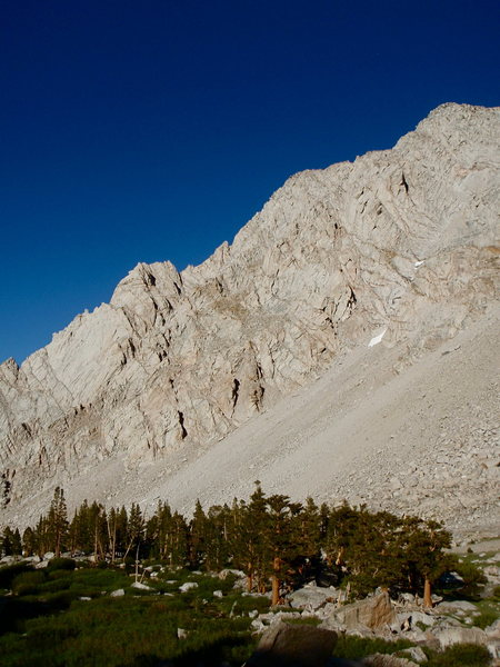 Rock Climbing Photo: The North Ridge of Lone Pine Peak looming above a ...