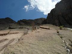 Rock Climbing Photo: First pitch of Oklahoma princess