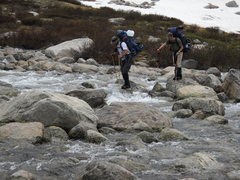 Rock Climbing Photo: A typical stream crossing.