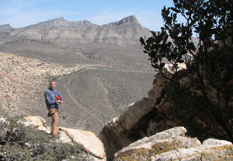 Rock Climbing Photo: Atop the Angel Food Wall, March 2009.  Photo by Gw...