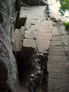 Rock Climbing Photo: Getting up early avoids the crowd on Extreme Uncti...
