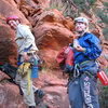 With Gwen after climbing <em>[[105717823]]</em>, April 2009.<br> <br> Photo by Lee Jensen.