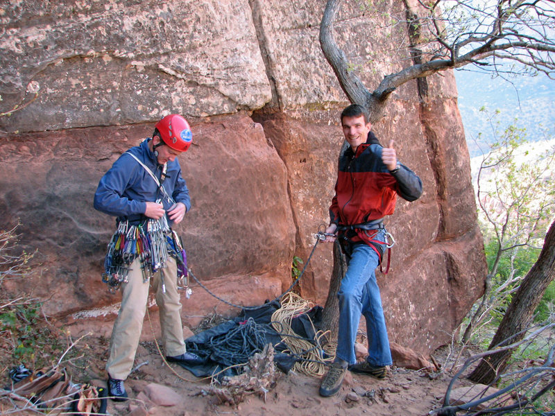 Rock Climbing Photo: With Lee Jensen at the base of Ashtar Command, Apr...