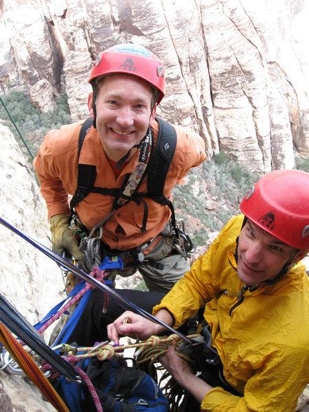 With Lee Jensen on <em>[[105732281]]</em>, February 2009.<br> <br> Photo by Marc Jensen.