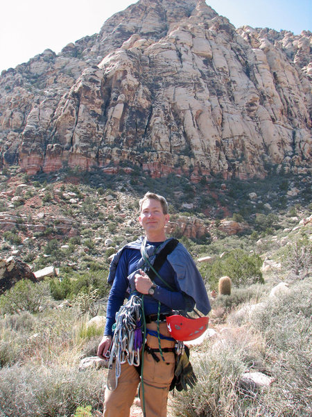 Rock Climbing Photo: Walking back from Angel Food Wall, March 2009.  Ph...