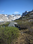 Rock Climbing Photo: Our second camp just below lower Titcomb Lake