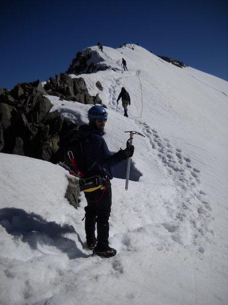 Rock Climbing Photo: Luke.  Almost there.