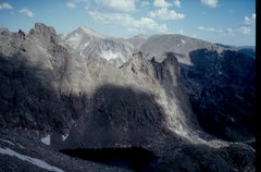 Rock Climbing Photo: The notch is just above the center of the photogra...