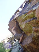 Rock Climbing Photo: Pulling through a roof in the Land of the Overhang...