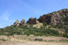 Rock Climbing Photo: The crag from afar. Most of the climbing in on the...