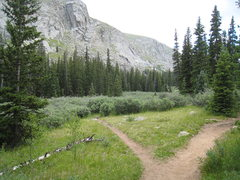 Rock Climbing Photo: Turn off of the Chicago Lakes Trail here to access...