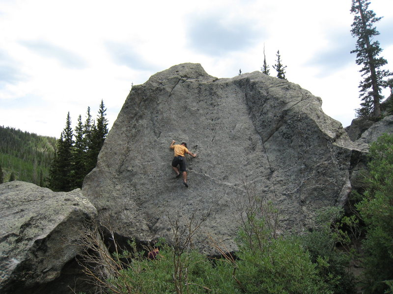 Rock Climbing Photo: Midway up Canvas.  Its not too bad up to this poin...